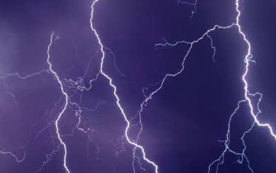 Unwetter mit Blitzen.