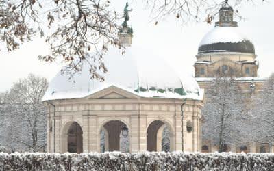 Der Hofgarten im Winter
