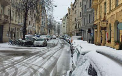 Schnee im Glockenbachviertel