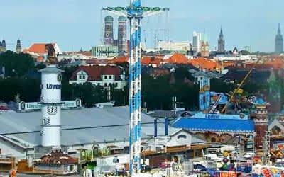 Standbild Wiesn-Webcam: Oktoberfestaufbau