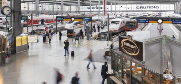 Der Münchner Hauptbahnhof als Szene in der BR-Sendung 24h Bayern