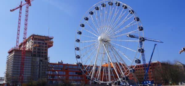 Das Riesenrad Hi-Sky im Werksviertel