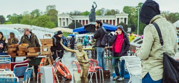 Eindruck vom Riesenflohmarkt auf der Theresienwiese
