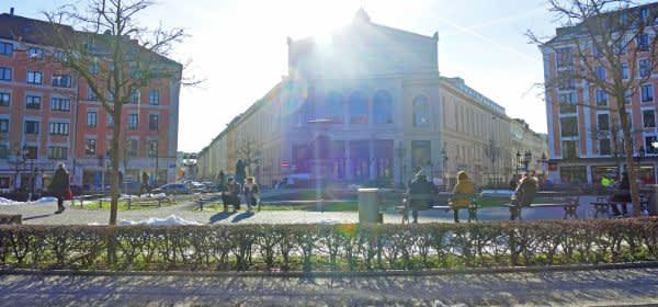 Wintersonne am Gärtnerplatz