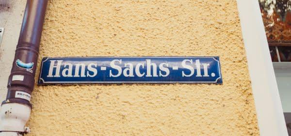 Straßenschild Hans-Sachs-Straße