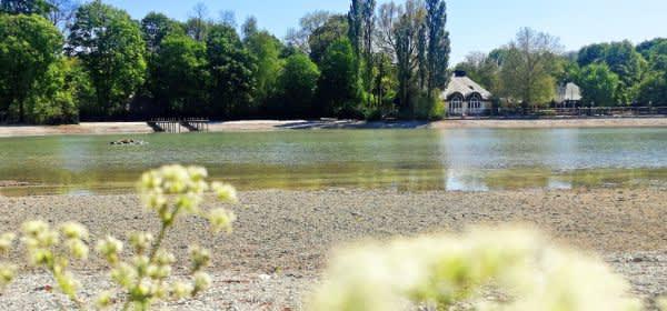 Kleinhesseloher See mit neuem Wasser