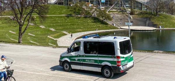 Polizei im Olympiapark