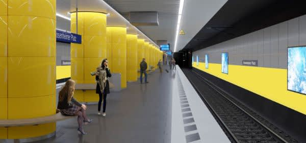 So soll die S-Bahn-Station Rosenheimer Platz bald aussehen.