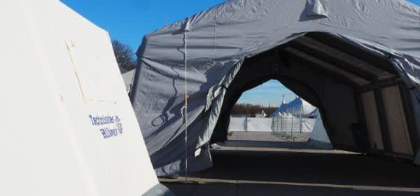 Corona-Teststation auf der Theresienwiese