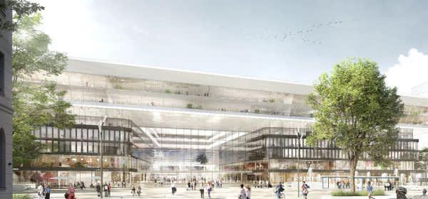 Visualisierung des Bahnhofsplatzes vor dem Hauptbahnhof