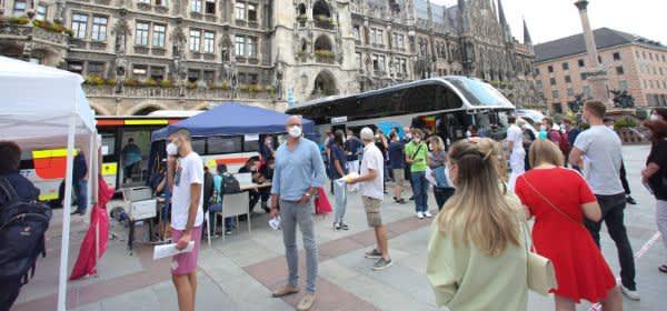 Impfbus am Marienplatz