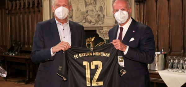OB Dieter Reiter und Karl-Heinz Rummenigge.