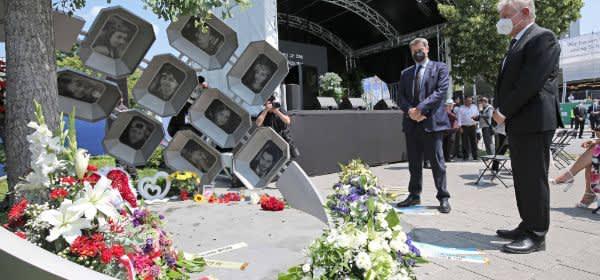 Gedenkakt für die Opfer des Anschlags am OEZ