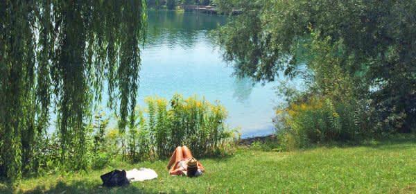Blick auf den Lerchenauer See