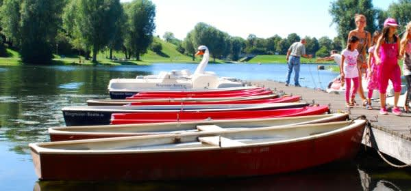Bootsverleih am Olympiasee