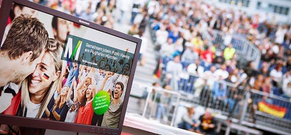Public Viewing dahoam am Flughafen München