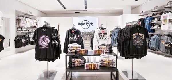Der Shop des Hard Rock Cafe am Flughafen München