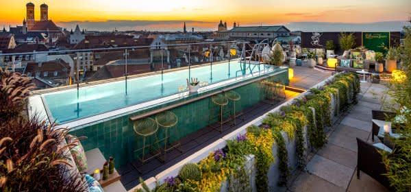 Dachterrasse Mahjong Roof Garden vom Mandarin Oriental München