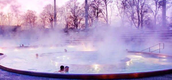 Das Dantebad im Spätherbst
