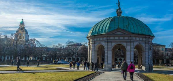 Hofgarten bei Sonne im Februar