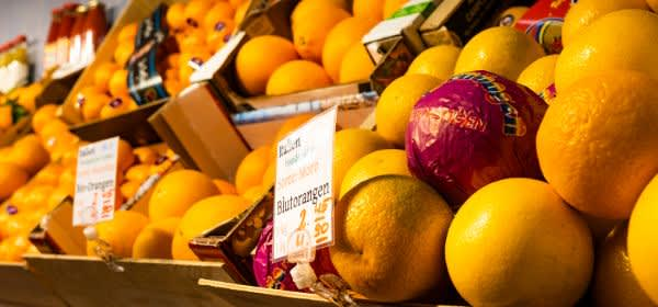 Orangen auf den Münchner Märkten