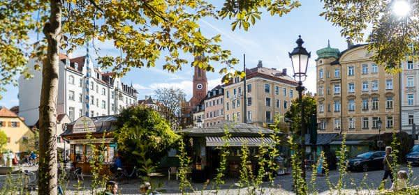 Der Markt am Wiener Platz in Haidhausen