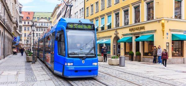 Tram an der Residenzstraße