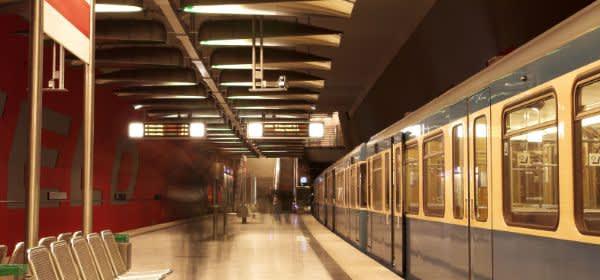 Stehende U-Bahn Am Moosfeld