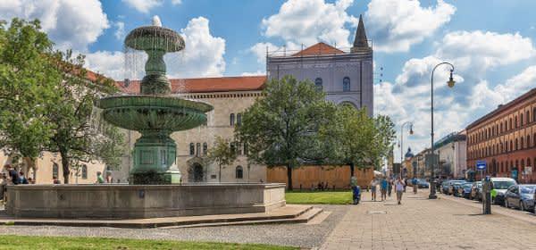 Brunnen am Geschwister-Scholl-Platz