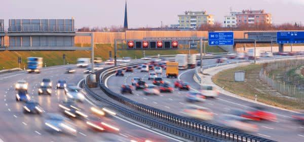 Verkehr auf der A99 bei München