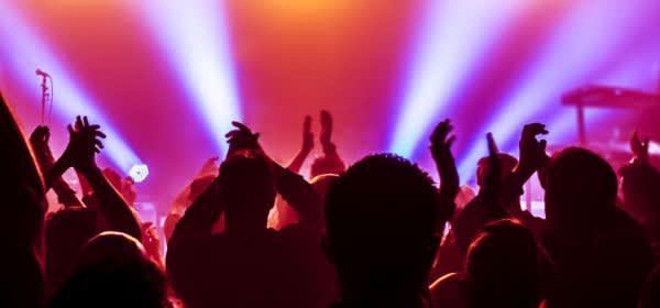 Jubelndes Publikum bei Veranstaltung