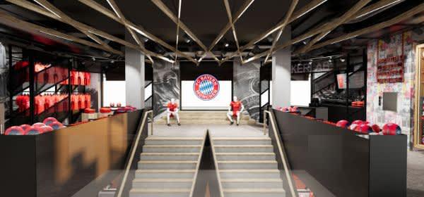 So soll das Obergeschoss der neuen FC Bayern Welt aussehen