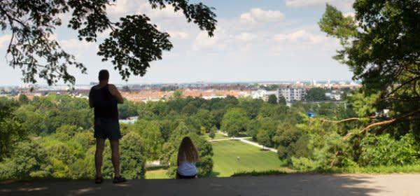 Luitpoldhügel im Luitpoldpark München Schwabing