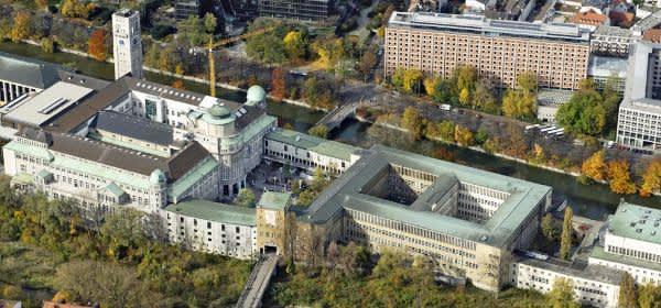 Luftaufnahme vom Deutschen Museum