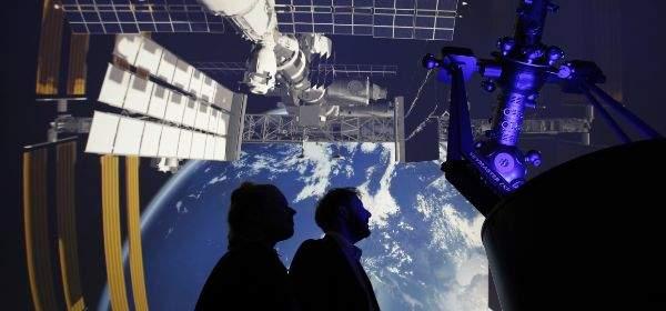 Planetarium im Deutschen Museum Abbildung der ISS