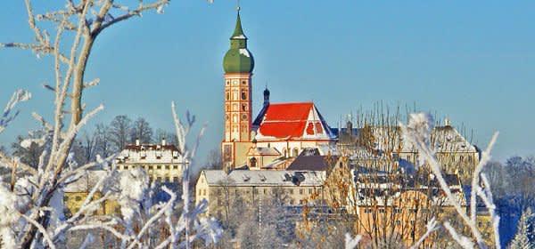 Das Kloster Andechs im Winter