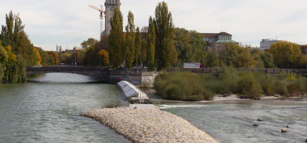 Blick von der Reichenbachbrücke gen Norden