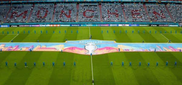 Fußball Arena München bei der UEFA EURO 2020