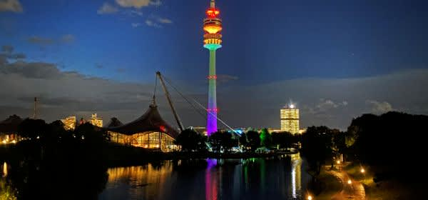 Olympiapark mit Olympiaturm