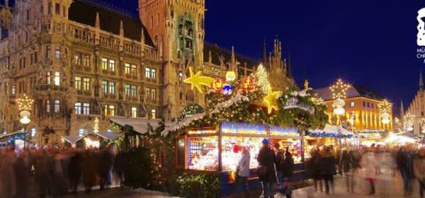 Münchner Christkindlmarkt um den Marienplatz