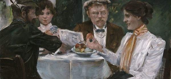 Lovis Corinth, Frühstück in Max Halbes Garten, 1899