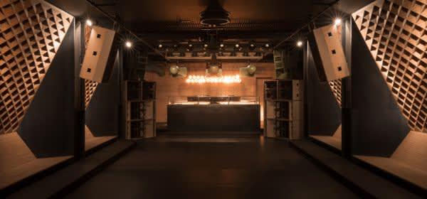 Blitz Club, München, Hauptraum, Blick Richtung DJ, Architektur: Studio KNACK, Ekert +Probst Architektinnen