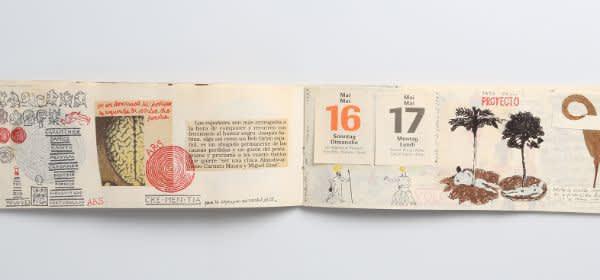 """José Antonio Suárez Londoño, aus der Serie """"Kalender"""", Mischtechnik auf Papier"""