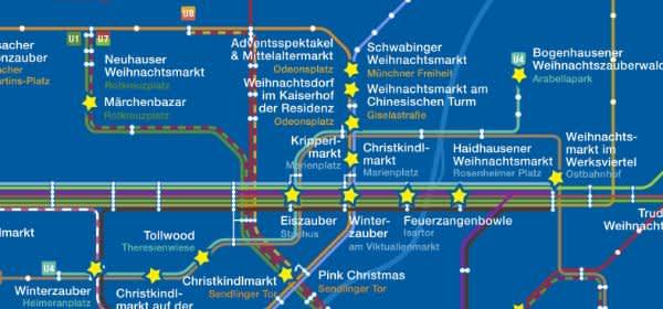 Weihnachtsmarkt-Fahrplan von muenchen.de 2018