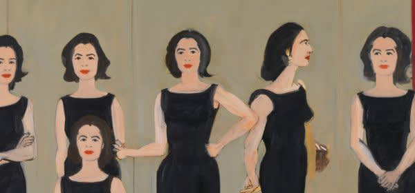 Alex Katz, The Black Dress