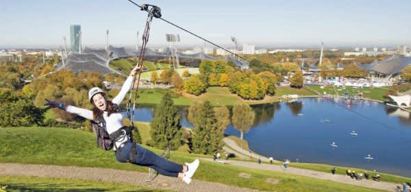 Flying Fox im Olympiapark