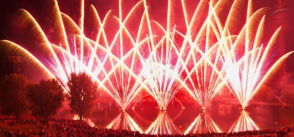 Feuerwerk beim Sommernachtstraum