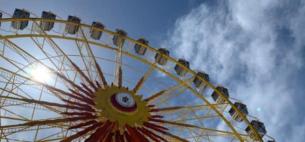 Das Riesenrad auf dem Frühlingsfest
