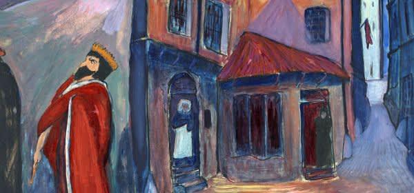 Marianne von Werefkin: In die Nacht hinein, 1910, Tempera, Mischtechnik auf Papier und Karton, 74 x 101 cm, Städtische Galerie im Lenbachhaus und Kunstbau München