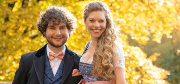 Das Münchner Prinzenpaar: Berni I. (Filser) und Margarethe l. (Stadlbauer)